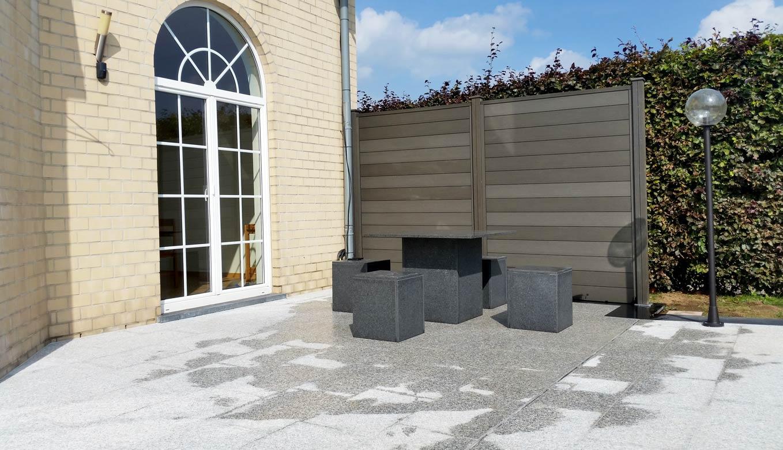 Meubles de terrasse en pierre naturelle