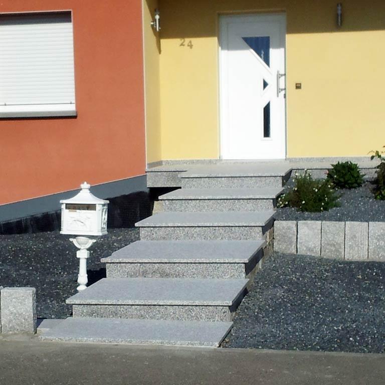 Finition escalier en pierre naturelle