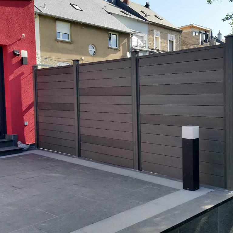 Terrasse avec clôture